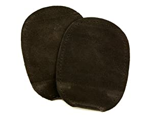 Prym Sew-On Suede Real Leather Elbow/Knee Patches Brown (2pk) by Prym