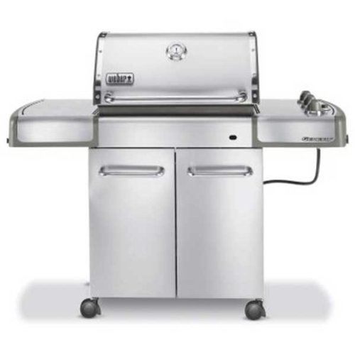 Weber 3770001 Genesis S-310 LP Gas Grill, Stainless Steel