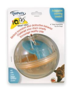 Smarter Toys IQ Treat Ball Dog Toy Generation II, 4-Inch