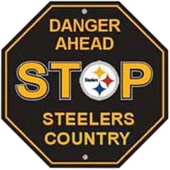 NFL Pittsburgh Steelers Stop Sign (Steelers Merchandise Under $12 compare prices)