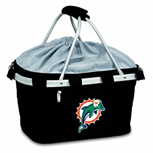 NFL Miami Dolphins Metro Insulated Basket, Black by Picnic Time