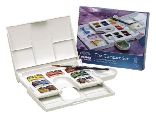 - Cotman Water Colour Paints Compact Set 14 Half Pans With Series Iii Water Colour Brush By Winsor & Newton