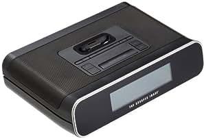 The Sharper Image EC-B145 Clock Radio with iPhone/iPod Dock, Black
