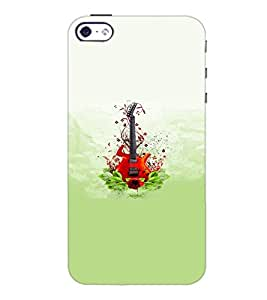 PrintDhaba Guitar D-5536 Back Case Cover for APPLE IPHONE 5S (Multi-Coloured)