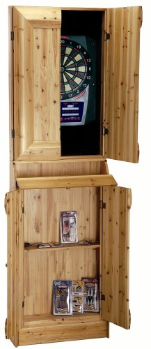 Rush Creek Log Cabin Style Stand-up Dartboard Cabinet