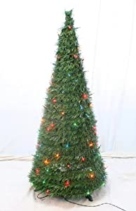 #!Cheap 4' Pre-Lit Collapsible Christmas Tree