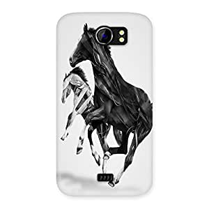 Unicovers Star Horse Back Case Cover for Micromax Canvas 2 A110