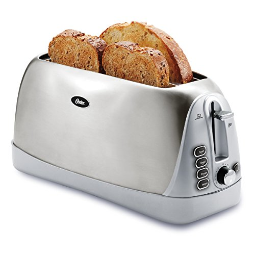Oster TSSTTR6330-NP 4 Slice Long Slot Toaster, Stainless Steel (Toast R Oven Tray compare prices)