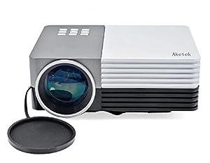 Aketek Latest LCD Multimedia USB/SD/VGA/HDMI/AV/Micro USB Home Theater LED Digital Video Mini Projector by Aketek
