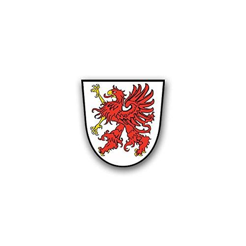 Aufkleber / Sticker - Pommern Greif Pomorze Herzogtum Wappen Abzeichen Emblem passend für Opel Astra Audi A6 VW Passat (7x7cm)#A1311
