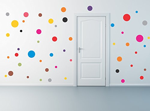 Polka Dot wall decal set of 50