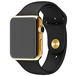 General Aux G7 Bluetooth 4.0 Smart Watch Phone SIM Gear Smartwatch Heart Rate Monitor Call SMS Reminder Camera - Royal Black Rose Gold