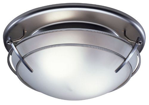 Broan 757SN 80-CFM Decorative Fan/Light, Satin Nickel Finish