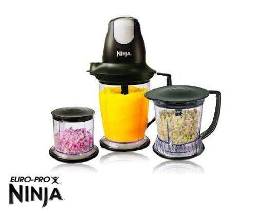 Ninja Master Prep Professional Blender & Food Processor Chopper and Ice Crusher, w/ 48oz master prep pitcher, 40oz master prep pitcher, and 16oz master prep bowl