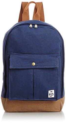 [チャムス] CHUMS Pleated Pocket Day Pack Sweat Canvas CH60-2024 N012 (H-Navy/Moca)