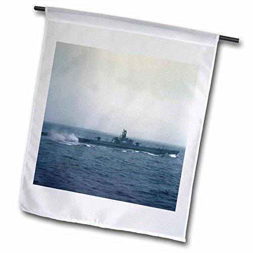 3dRose fl_97678_1 Pacific Ocean, US Submarine During WW II-Xx01 Csl0001-Charles Sleicher Garden Flag, 12 by 18-Inch
