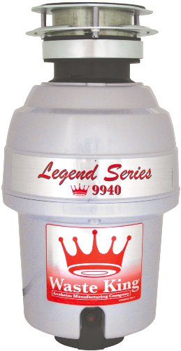 Waste King 9940 Legend Series 3/4 HP Continuous Feed Operation Garbage Disposer