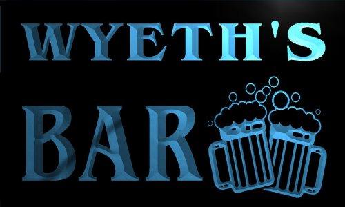 w035858-b-wyeth-name-home-bar-pub-beer-mugs-cheers-neon-light-sign-barlicht-neonlicht-lichtwerbung