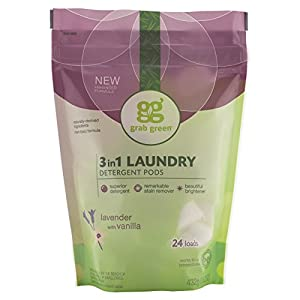 Grab Green Natural 3-in-1 Laundry Detergent Pods, Lavender