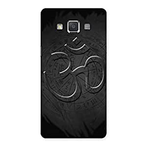 Impressive Om Grey Back Case Cover for Galaxy Grand 3