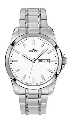 Dugena Herren-Armbanduhr Sportlich-Elegant Analog Quarz Edelstahl 4460560