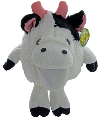 Shaggy Sidekicks Plush Stuffed Animal Toys - Plush Cow Hand Puppet - Moos With Hand Movement - Sale On Now! - 1