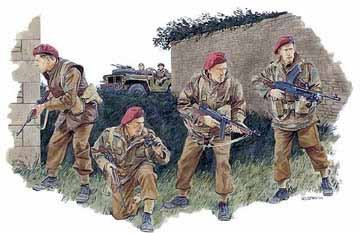 Buy Low Price Dragon Models 6199 1/35 2nd SAS Regiment France '44 (4) Figure (B000BROCXS)
