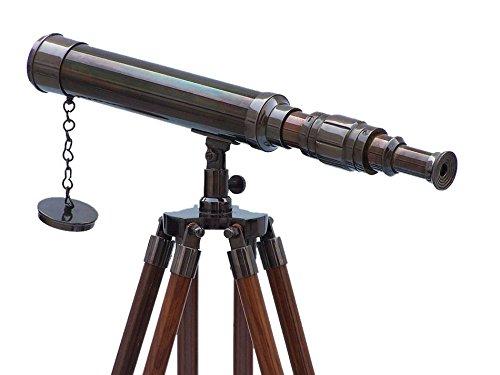 """Floor Standing- Oil Rubbed Bronze Harbor Master Telescope 30""""- Standing Telescope-"""