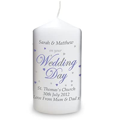 Personalised Wedding Day Candle by Pmc