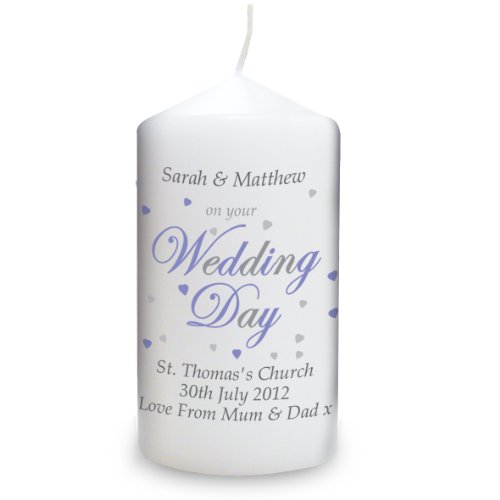 Wedding Day Candle. This is a great product that can be personalised to your requirements ( please see main discription for full details ) Ideal gifts and presents for weddings, Christenings, Birthdays, Christmas etc...