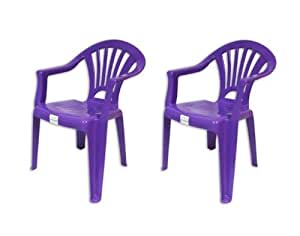 Brights 2 X Purple Plastic Stackable Chairs For Kids For