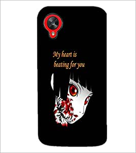 PrintDhaba Quote D-5366 Back Case Cover for LG GOOGLE NEXUS 5 (Multi-Coloured)