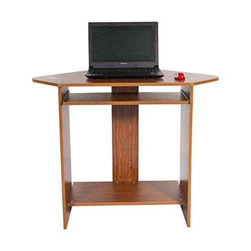 Kendan-Banshee-Nussbaum-Eck-Computer-Schreibtisch-Workstation-fr-Home-Office-Studie-mit-ausziehbare-Tastaturablage-und-Wiege-fr-Desktop-Tower
