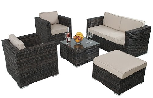 Seville 4 Piece 4 Seater Rattan Patio Garden Furniture Sofa Set RRP £999 NOW ONLY £599 SAVE £400 - FAST FREE DELIVERY