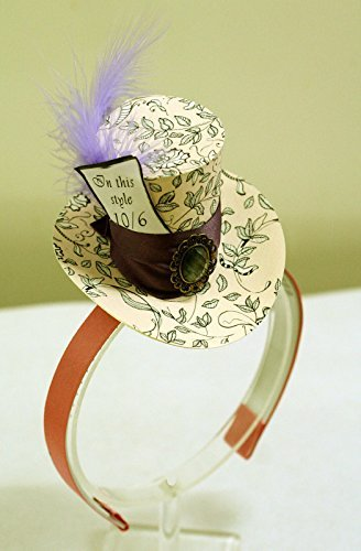 Pink Mini Top Hat Headband Mad Hatter Tea Party Alice in Wonderland Costume