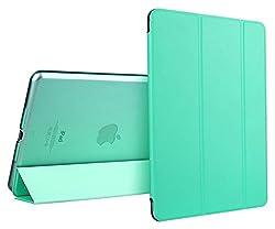 iPad Mini Case, iPad Mini 2 Case, ESR Yippee Colour Series iPad Mini Transparent Back Ultra Slim Light Weight Auto Wake Up/Sleep Smart Cover Tri-fold Protective PU Leather Case for iPad Mini 3/2/1 (Mint Green)
