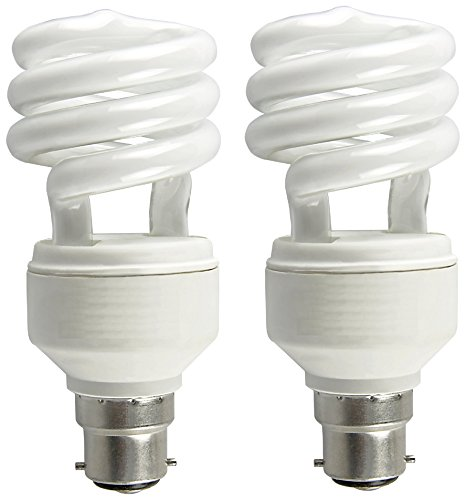 Spiral 13 Watt CFL Bulb (Cool Day Light,Pack of 2)