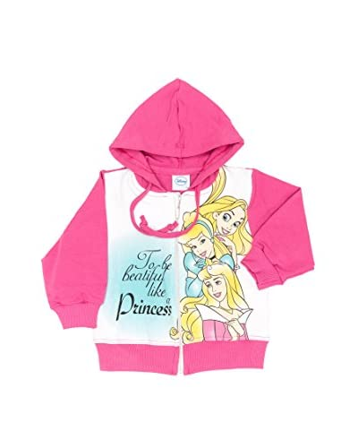 Fantasia Felpa Cappuccio Princess Baby Girl [Fucsia]