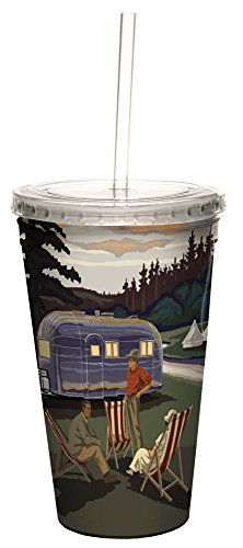Airstream Camping Double-Walled Cold Beverage Cup, 16-Ounce made our list of camping gifts couples will love and great gifts for couples who camp