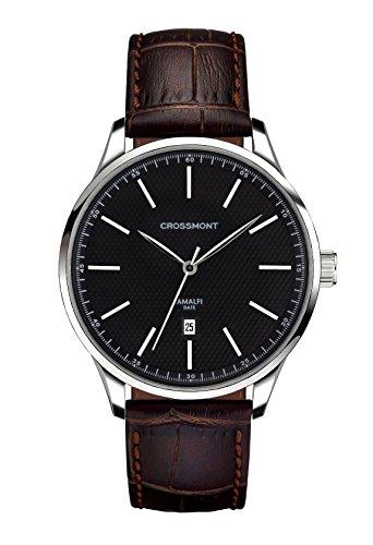 Crossmont Amalfi Orologio da uomo Carbone Nero Classico Marrone 40.9mm cristallo zaffiro Orologio da polso Fashion Watch CW0110507
