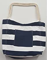 Pier 17 Mariner Canvas Beach Bag Tote For Beach And Travel