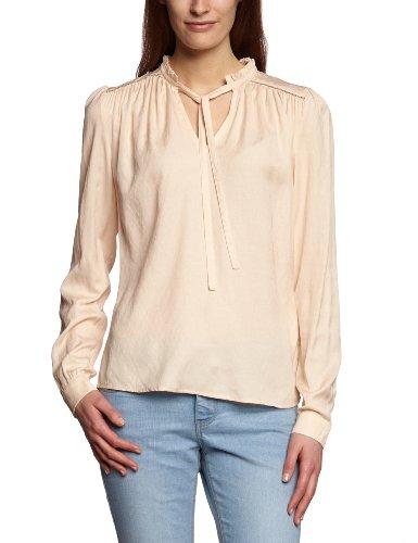 VILA CLOTHES Damen Bluse 14016253 SADIRA TOP, Gr. 34 (XS), Beige (NOVELLE PEACH)