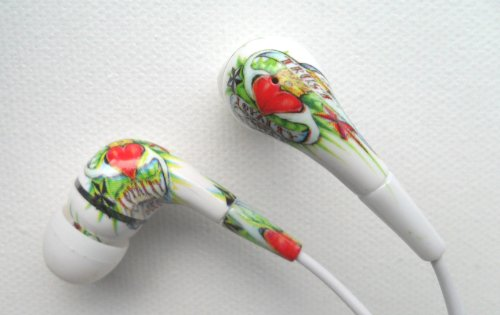 Ed Hardy Tattoo Earbuds for iPod iPhone Loyalty Respect Design  