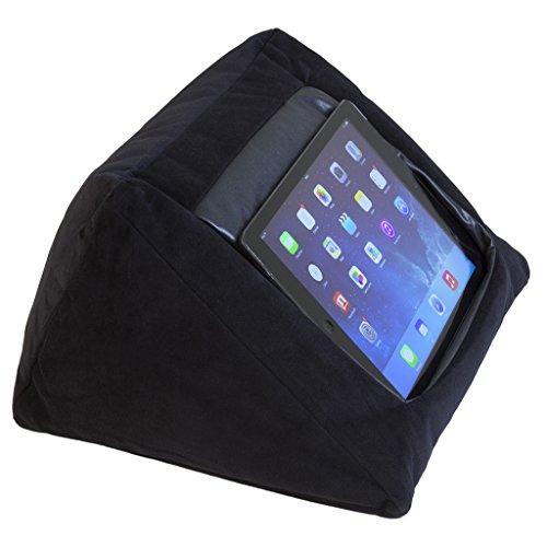 IPAD support de stand d'oreiller de coussin d'iPad (NOIR) pour l'iPad et d'autres dispositifs de tablette. Utilizzazione autour de la maison, dans ou sur le bureau illuminato le. Éviter l'iPad RSI et l'épaule d'iPad. Rempli d'haricots de sac d'haricot