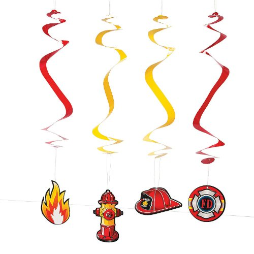 Paper Firehouse Heroes Hanging Swirls - 1