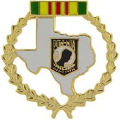 Vietnam POW Wreath Texas Pin 1 5/16