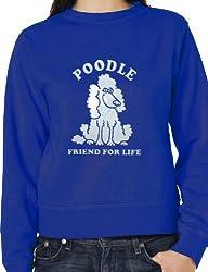 Poodle Dog Lover Sweatshirt Jumper In White Glitter Unisex BirthdayGift Size Small -XXL