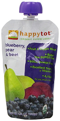 Happy Family happy tot Purees - Blueberry Pear & Beet - 4.22 oz - 8 pk