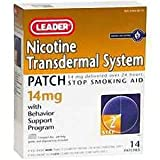 Leader Nicotine Transdermal System AP 14 mg., 14 ct. - (Compare to Nicoderm CQ)