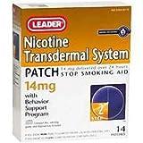 Leader Nicotine Transdermal System AP 14 mg., 14 ct. - (Compare to Nicoderm CQ)
